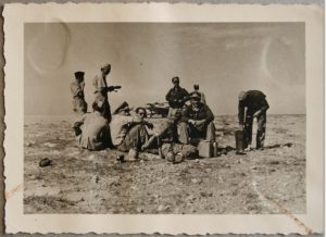 Personnel in the desert