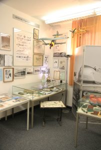 The corner of the museum, dedicated to the aircraft designs made by Henschel Flugzeug-Werken A.G.
