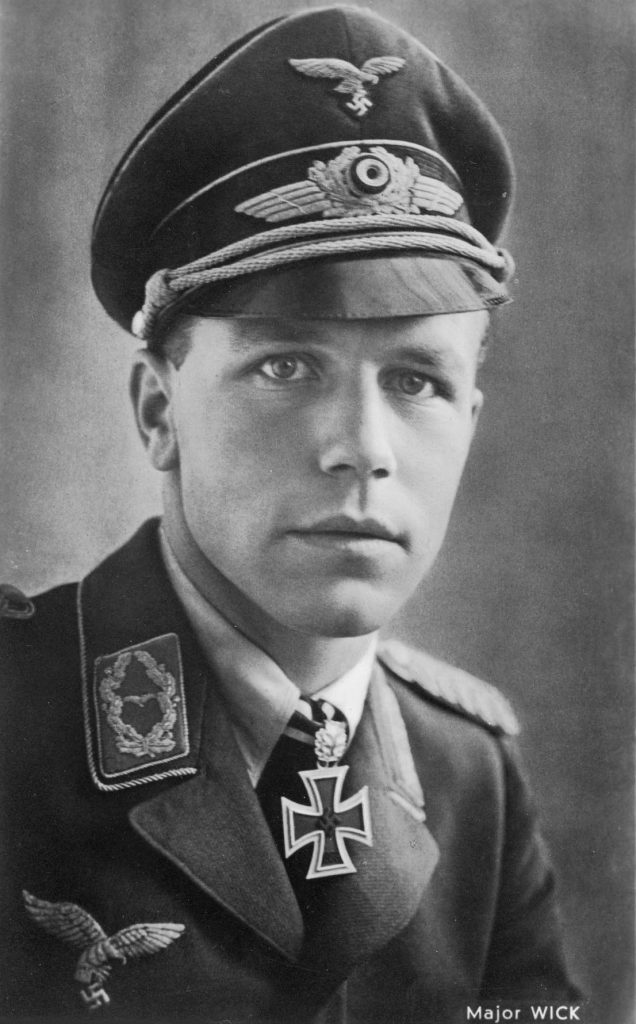 Helmut Wick after being awarded Oakleaves to his Knight's Cross.