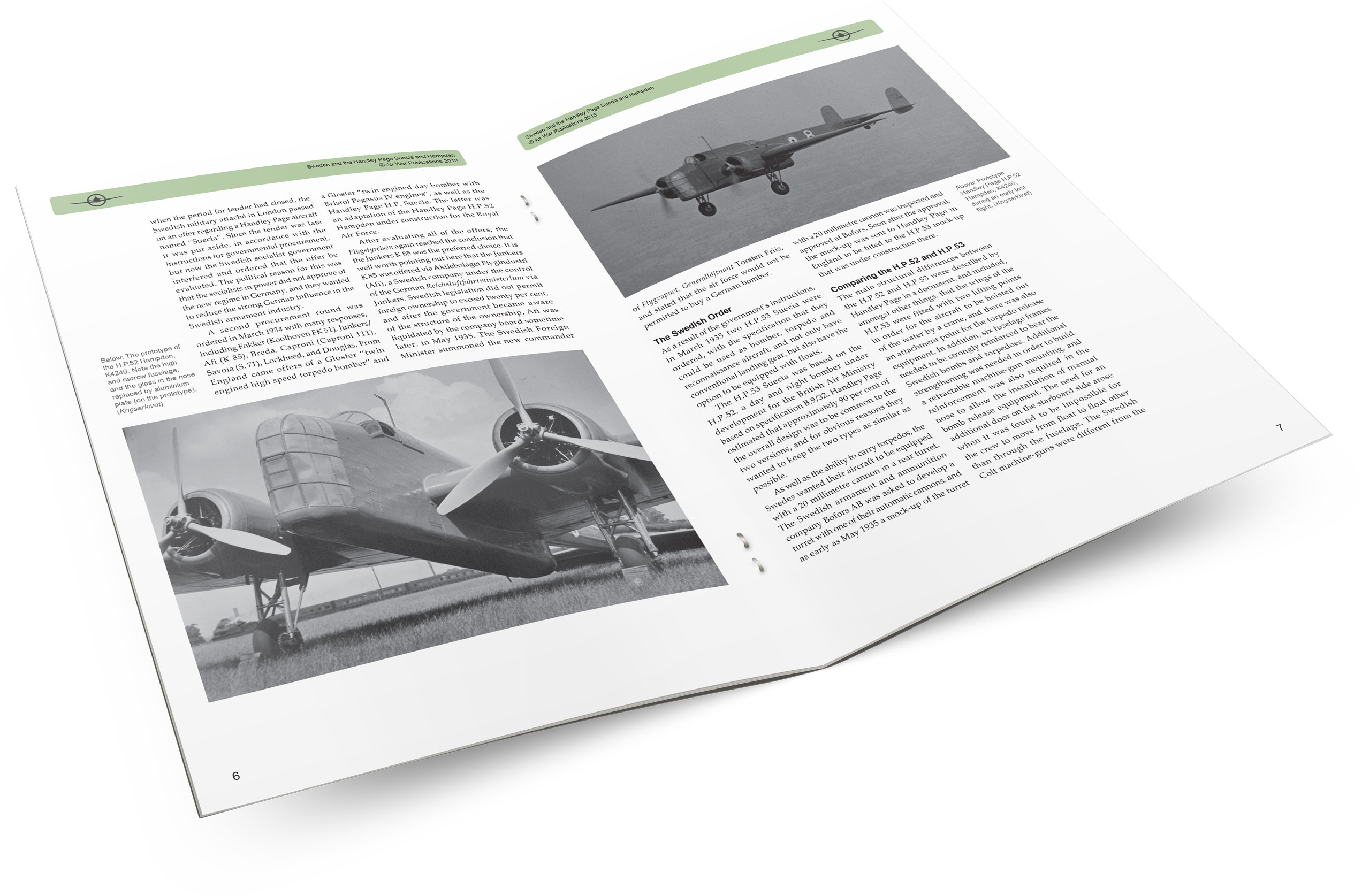 Air War Publications e-article - Sweden and the Handley Page Suecia and Hampden