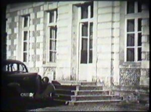 Wartime image of chateau near Beaumont-le-Roger