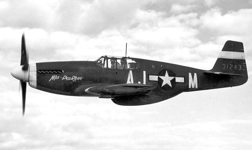 Mustang P-51B entry into service
