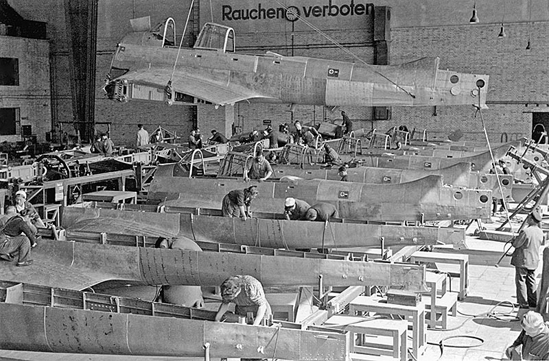Assembly line for Junkers 87s