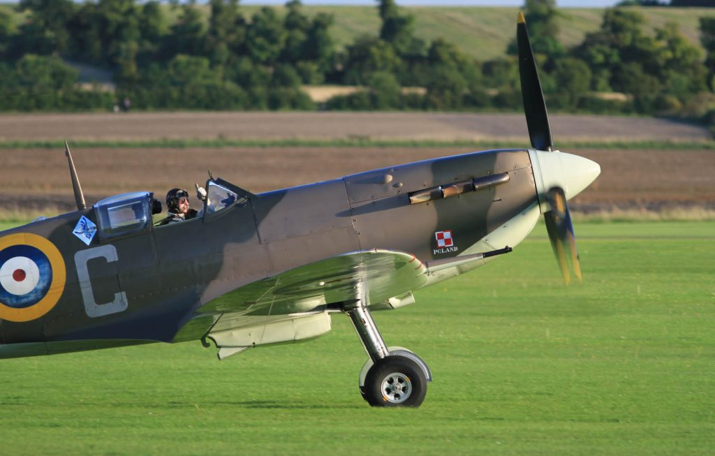Spitfire rolling in