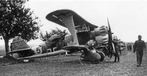 One of the Hs 123s that flew close to the Czechoslovakian border during the Sudeten Crisis.